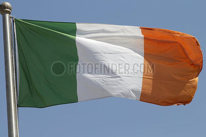 Berlin,  Deutschland,  Nationalfahne der Republik Irland
