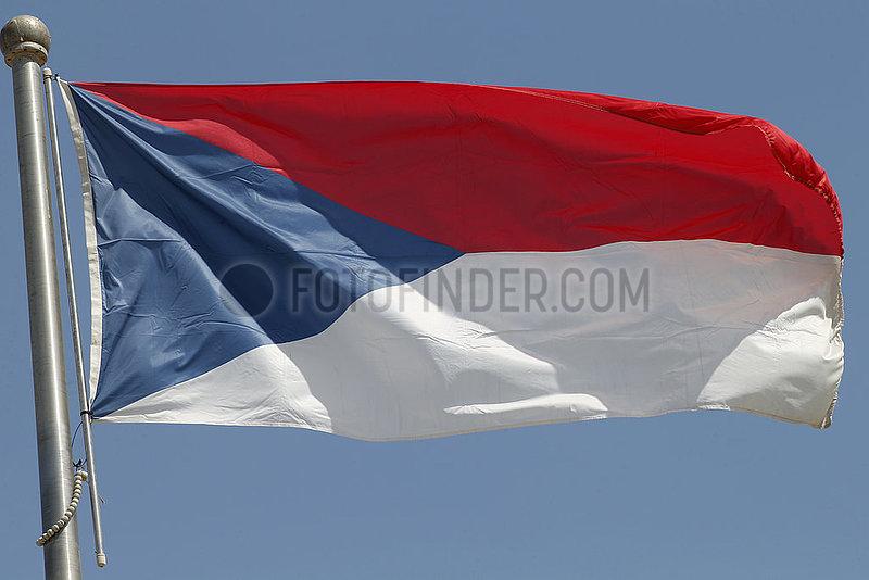 Berlin,  Deutschland,  Nationalfahne der Tschechischen Republik