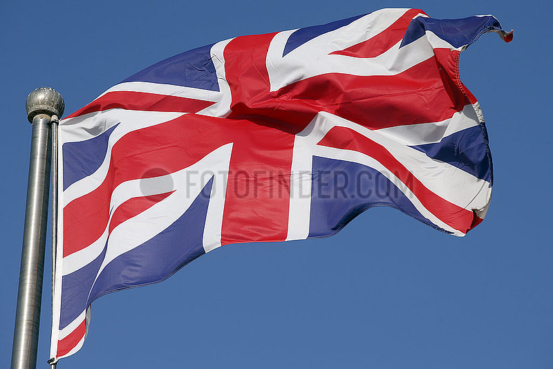 Berlin,  Deutschland,  Nationalfahne von Grossbritannien