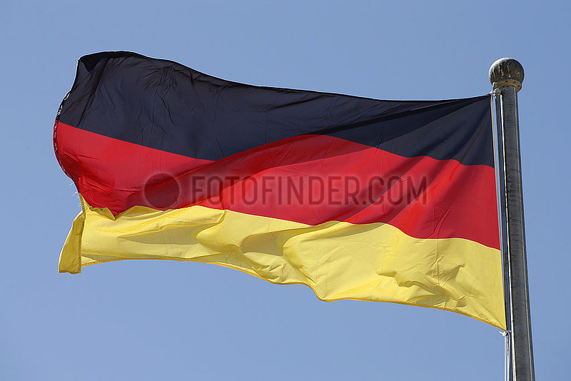 Berlin,  Deutschland,  Nationalfahne der Bundesrepublik Deutschland