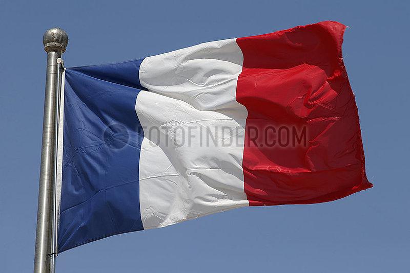 Berlin,  Deutschland,  Nationalfahne von Frankreich