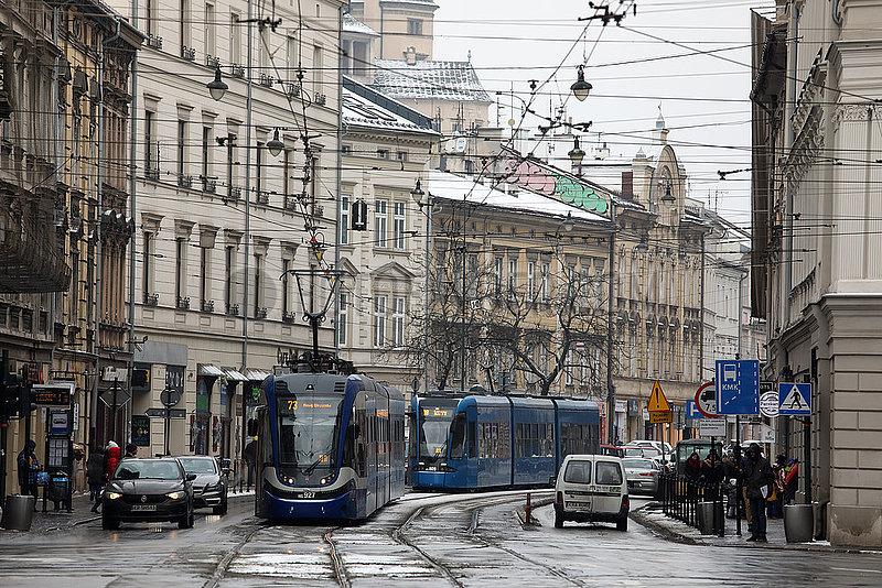 Krakau,  Polen,  Stadtansicht im Stadtteil Stradom