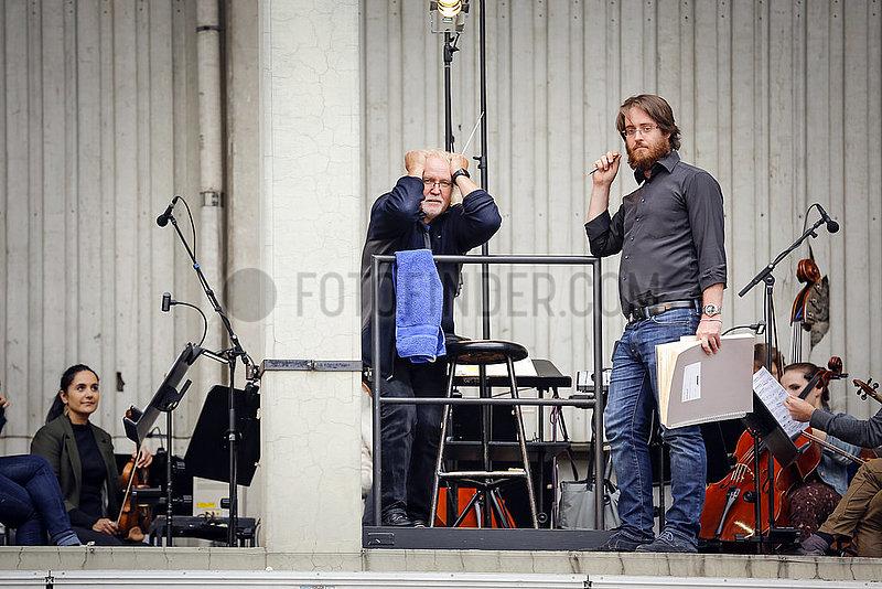 Deutsche Oper Berlin RHEINGOLD AUF DEM PARKDECK ,  Proben-Foto