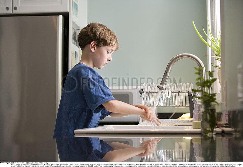 Hand washing children