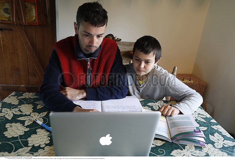 Homework in Eure,  France during COVID-19 epidemic