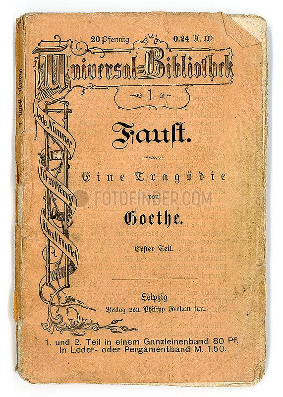 Faust,  Erster Teil,  von Goethe,  Reclamheft,  1905