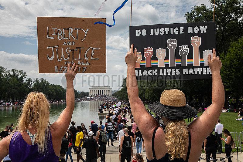 Black Lives Matter Demo in Washington