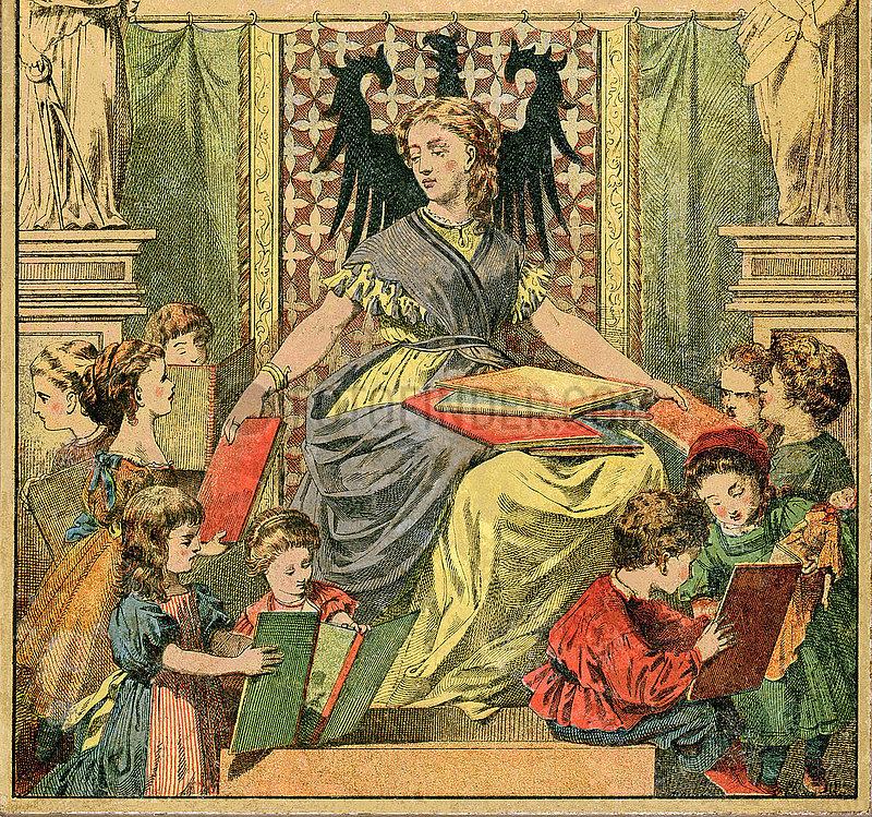 Deutsches Familienbuch,  Anschauungsbuch zum Selbstunterricht fuer Kinder,  1871