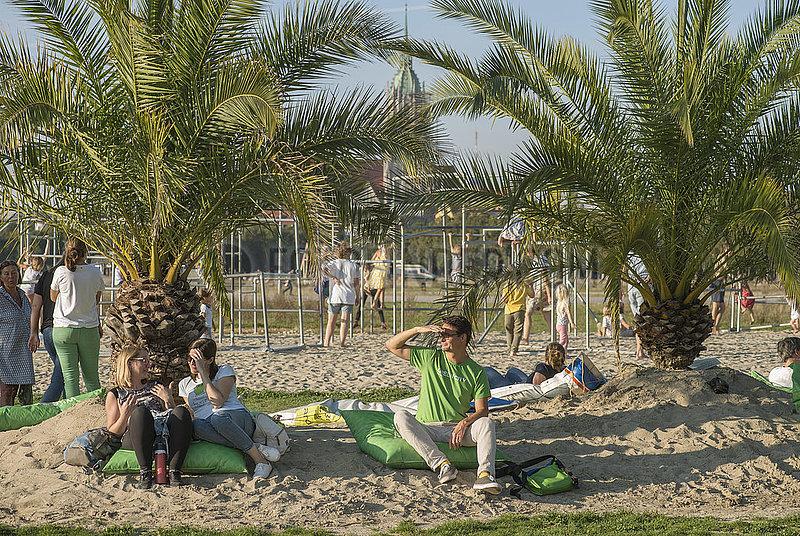 Palmengarten auf der Theresienwiese,  Aktion Sommer in der Stadt,  Muenchen,  September 2020