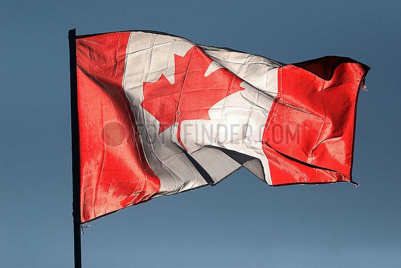 Kvareli,  Georgien,  Nationalfahne von Kanada