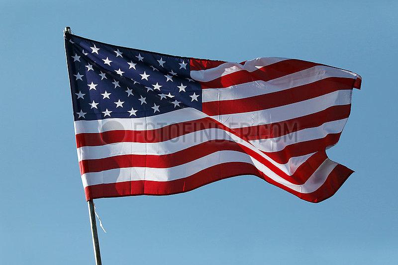 Kvareli,  Georgien,  Nationalfahne der USA