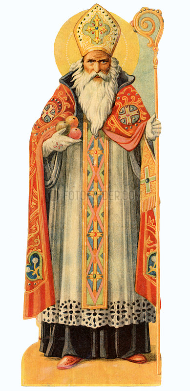 Heiliger Nikolaus,  Bischof,  Poesiebild,  1909