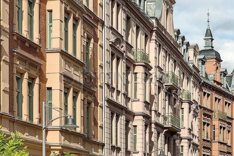 Gruenderzeitfassaden,  Gillitzerblock,  Rosenheim,  Muenchener Straße