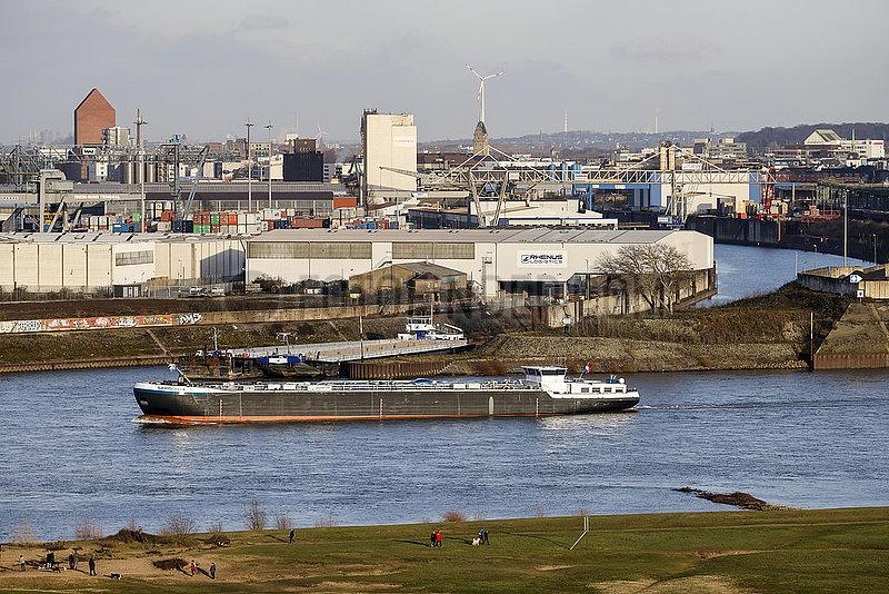 Hafen Duisburg am Rhein,  Nordrhein-Westfalen,  Deutschland