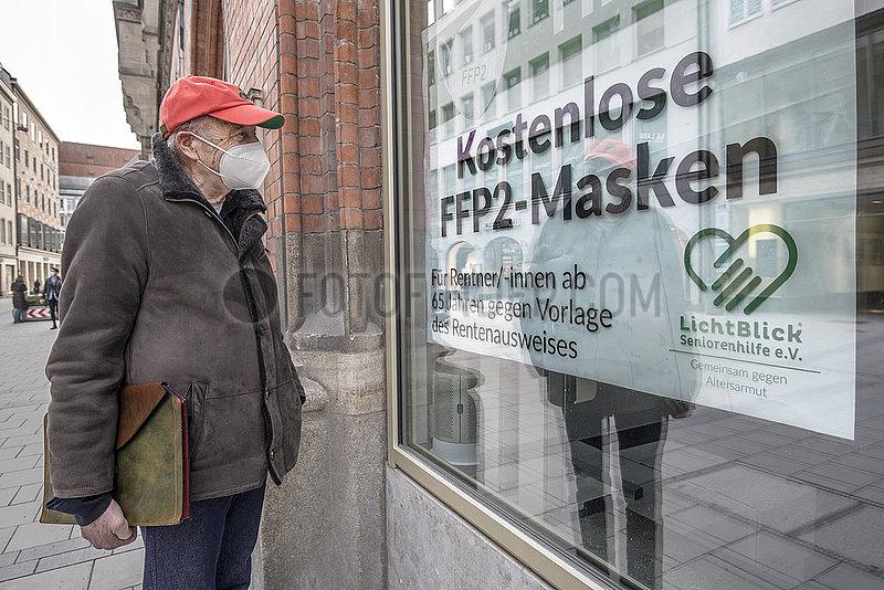 Kostenlose FFP2-Masken fuer Rentner,  Februar 2021