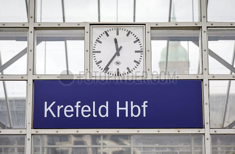 Hauptbahnhof,  Krefeld,  Nordrhein-Westfalen,  Deutschland