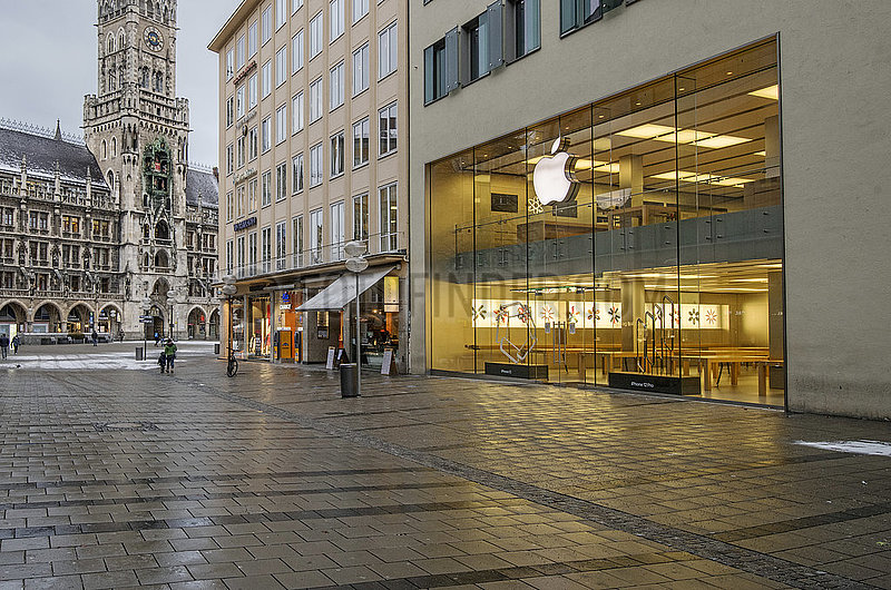 Apple Store,  Muenchen,  14.01.2021