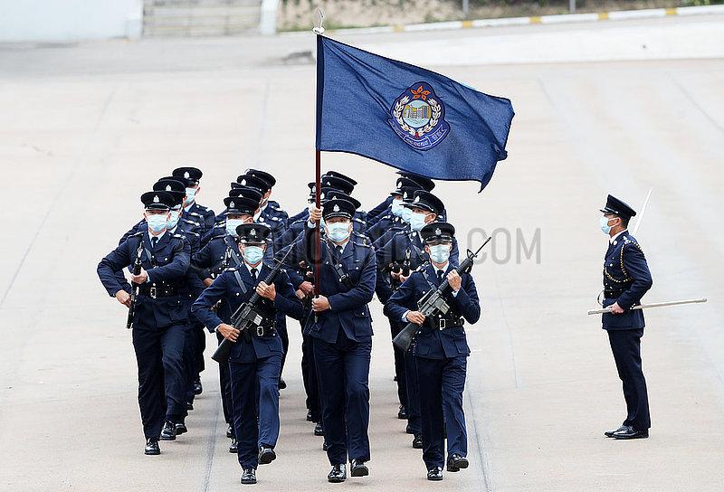 CHINA-Hongkong NATIONAL SECURITY BILDUNG DAY-POLICE-FLAG-raising ZEREMONIE (CN)