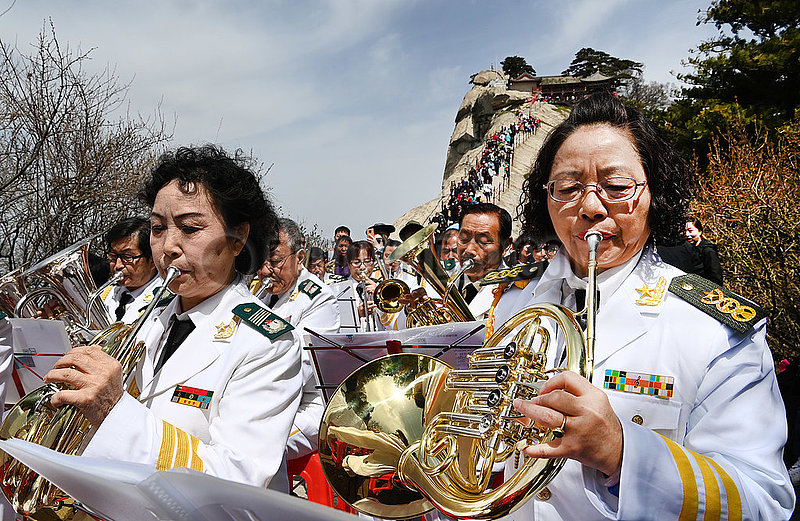 CHINA-SHAANXI-HuaShan-SYMPHONIEORCHESTERS-PERFORMANCE (CN)