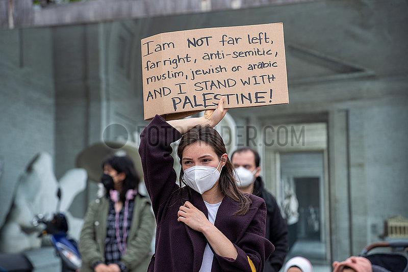 Free Palestine / Save Sheikh Jarrah Kundgebung in München