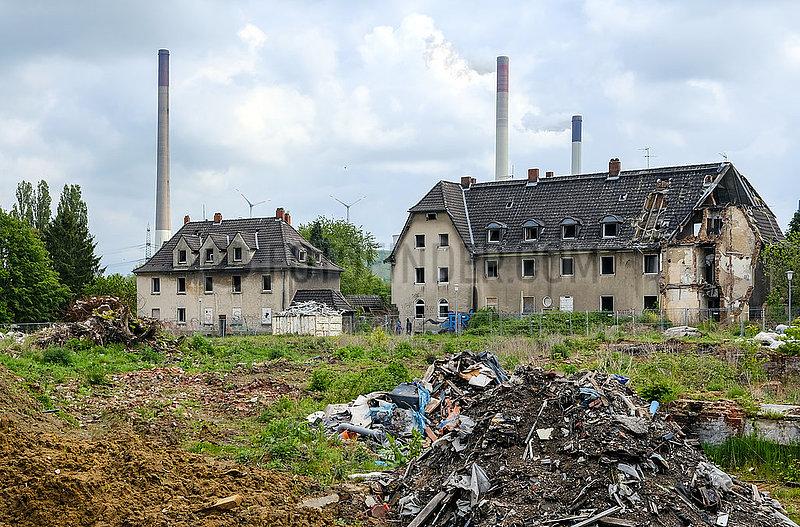 Abrisshaeuser in der ehemaligen Schlaegel- und Eisensiedlung,  Gladbeck,  Nordrhein-Westfalen,  Deutschland