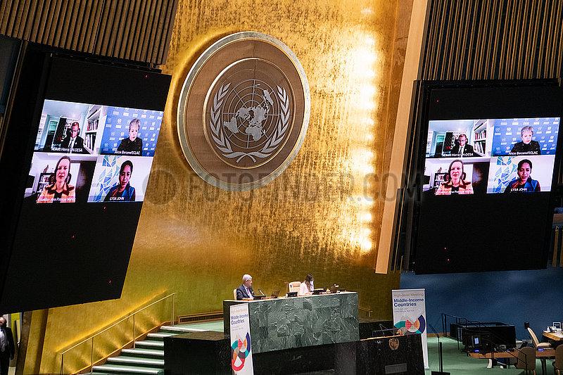 UN-VOLLVERSAMMLUNG-hochrangiges Treffen-Länder mit mittlerem Einkommen-Schuldenerlass EXTENSION