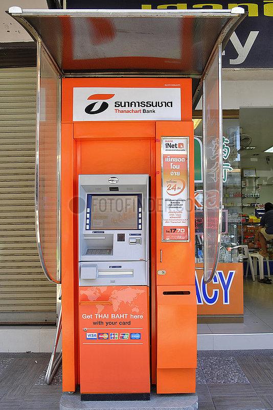 Geldautomat,  Pattaya,  Chonburi,  Thailand,  Asien | ATM machine,  Pattaya,  Chonburi,  Thailand,  Asia
