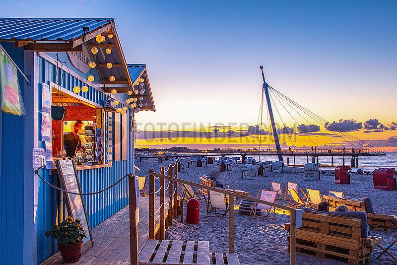 Flunderbar am Strand von Hohwacht