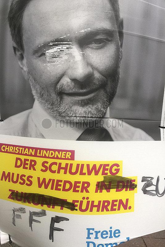 Christian Lindner,  FDP Wahlplakt