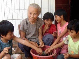 China  Guangdong Provinz: Jintu Villag  Dorf der Alten