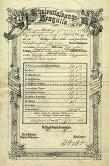 Schulentlassungs-Zeugnis  1872