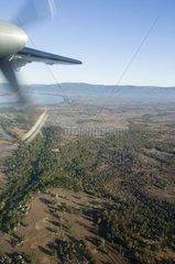 Luftaufnahme beim Flug von Vientiane nach Pakse / Laos / SUEDOSTASIEN-REISE
