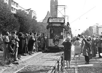 Berlin  letzte Strassenbahn