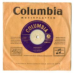 eine der ersten Single-Schallplatten  1949