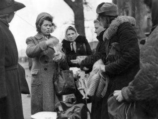 Berlin - Tiergarten Schwarzmarkt 1948