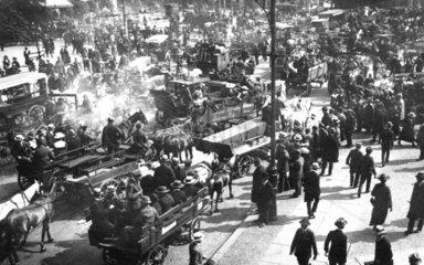 Berlin  Verkhersstreik 1922