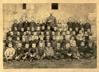 Schulklasse  Lehrer  Oppenheim  1900