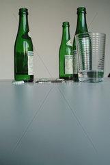 Drei Selterflaschen