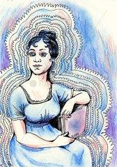 Portrait der Schriftstellerin Jane Austen