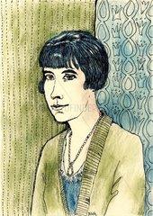 Portrait der Schriftstellerin Katherine Mansfield