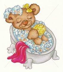 Baerchen in der Badewanne