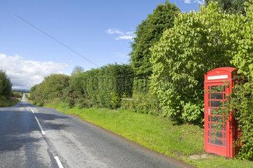 Rote Telefonzelle  Forfar  Angus  Schottland  U.K.