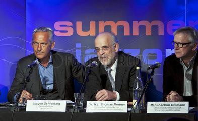 Juergen Schlensog  Thomas Renner  Joachim Uhlmann  Pressekonferenz jazzopen 2012