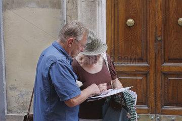 Touristen in Rom