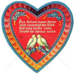 Herz als Liebessymbol  Oblate  1910