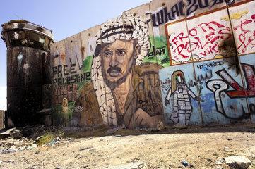 Graffiti mit Jassir Arafat