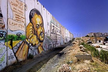 Graffiti mit Marwan Barghouti