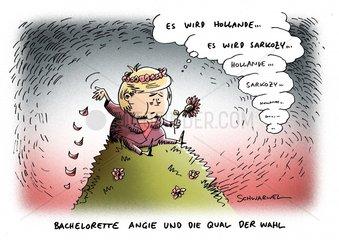 Wahl Frankreich Hollande oder Sarkozy - Vor-  Nachteile Deutschland Merkel