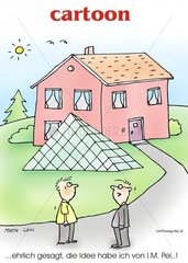 im.pei architekt modern pyramide haus bauen