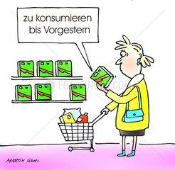 datum ablauf verpackung supermarkt einkauf etikette kleingedruckt